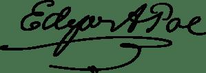 Firma de Edgar Allan Poe